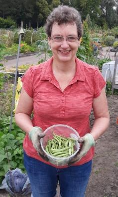 Corina met een mooie oogst